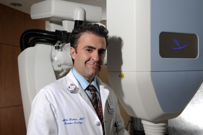 Dr. Rashtian with the Cyberknife Stereotactic Body Radiotherapy System